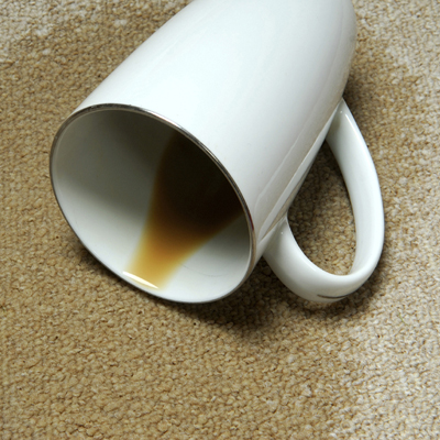 coffee mug spilled on carpet